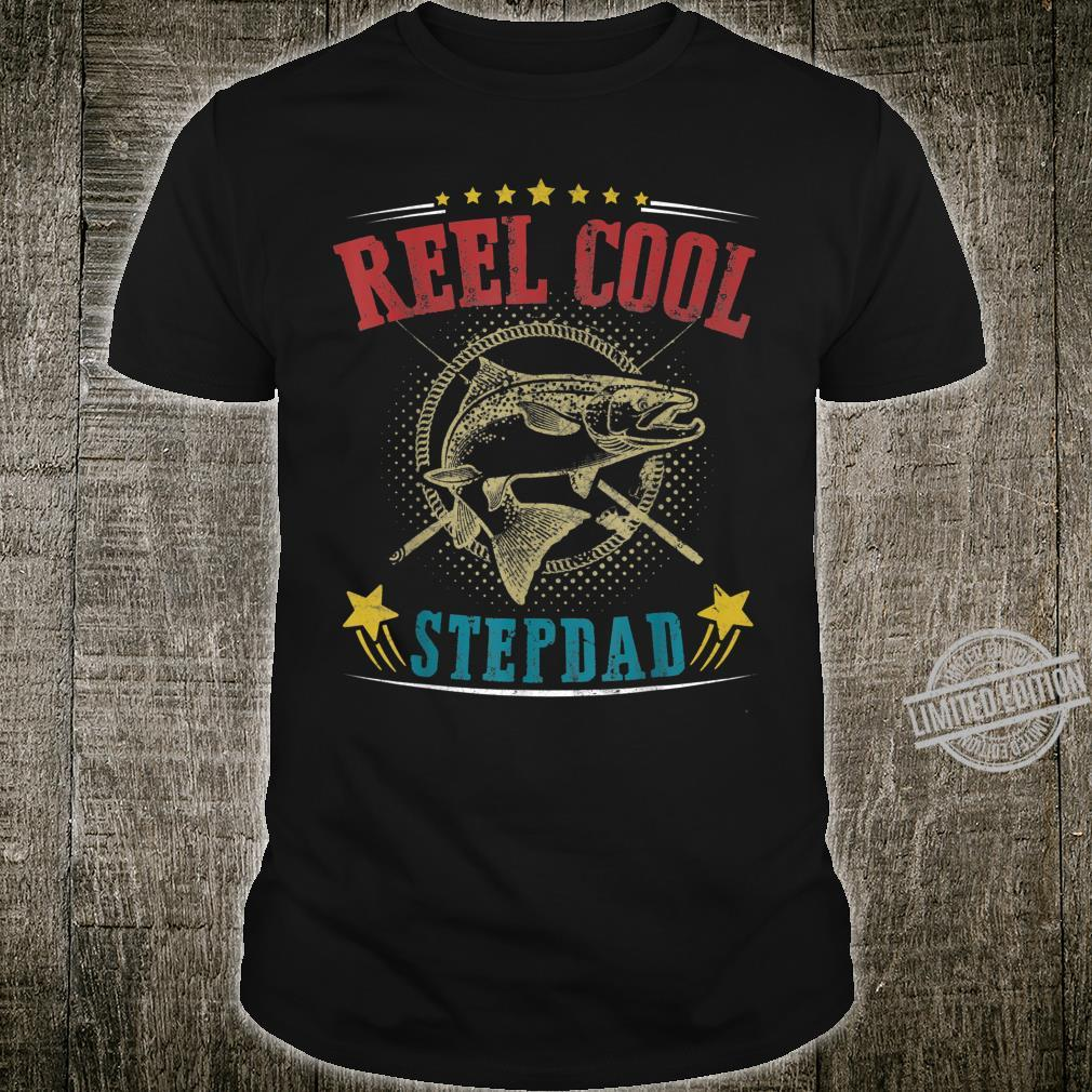 Vintage Reel Cool StepDad Fish Fishing Father's Day Shirt