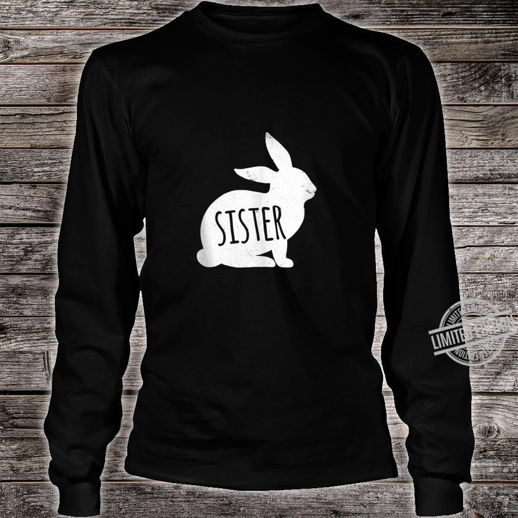 Vintage Sister Bunny Matching Easter For Family Shirt long sleeved