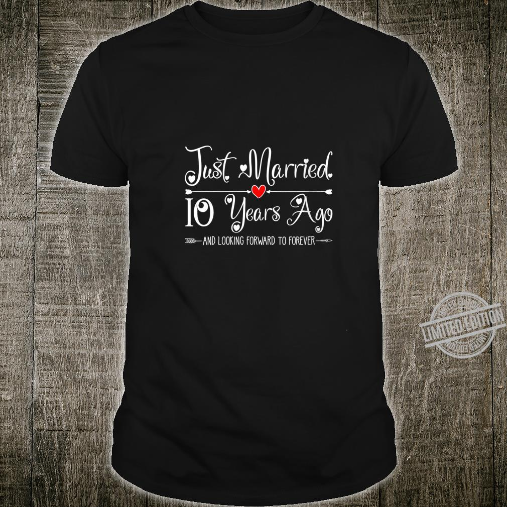 Womens 10 Years Wedding Anniversary Idea for Him & Her Couples Shirt