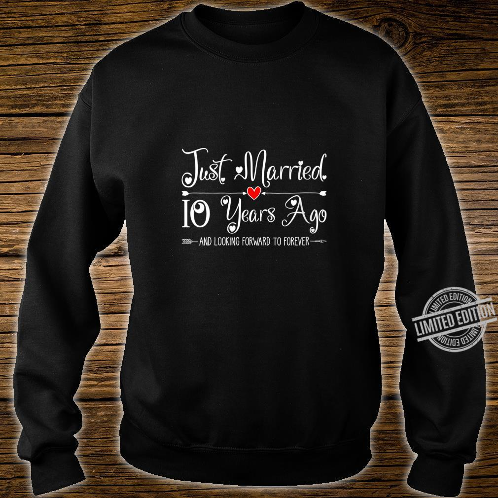 Womens 10 Years Wedding Anniversary Idea for Him & Her Couples Shirt sweater
