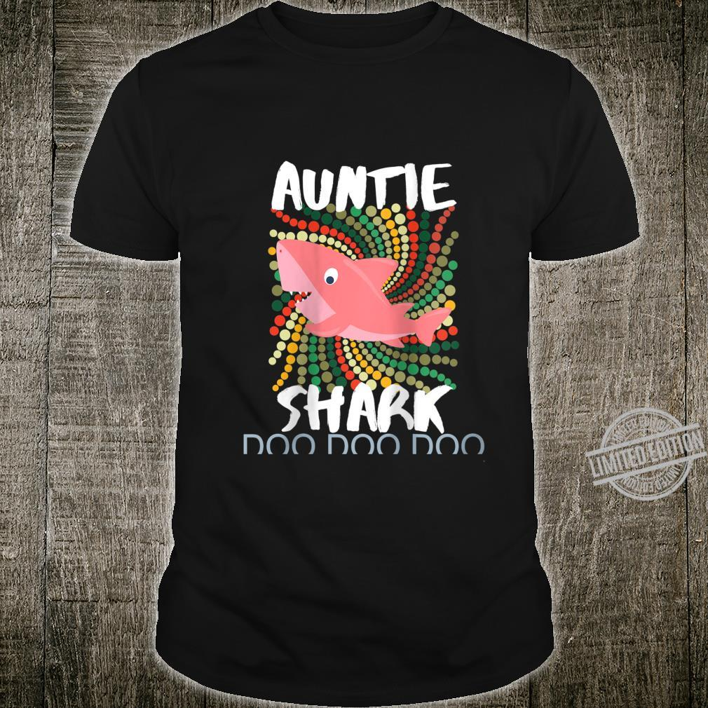 Womens Auntie Shark Shirt Doo Doo Mother's Day For Sister Aunt Shirt