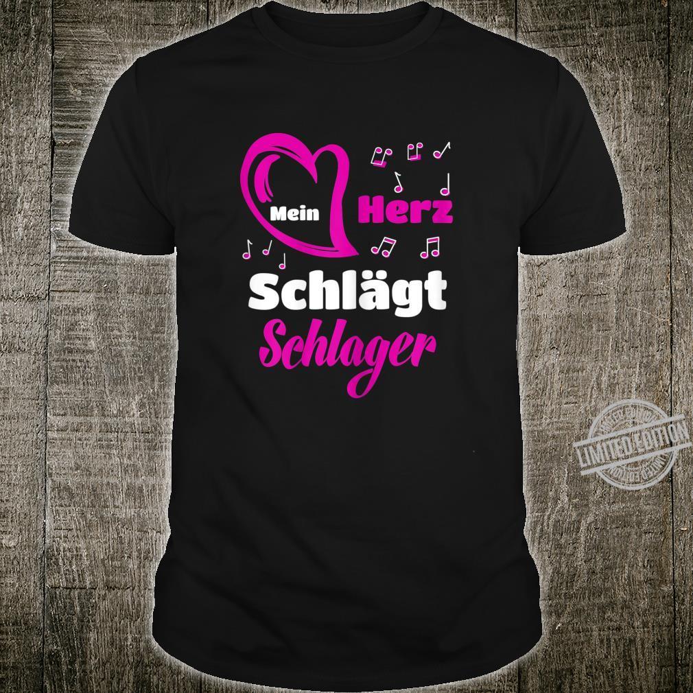 Women's Schlager Music Shirt My Heart Beats Beats Shirt