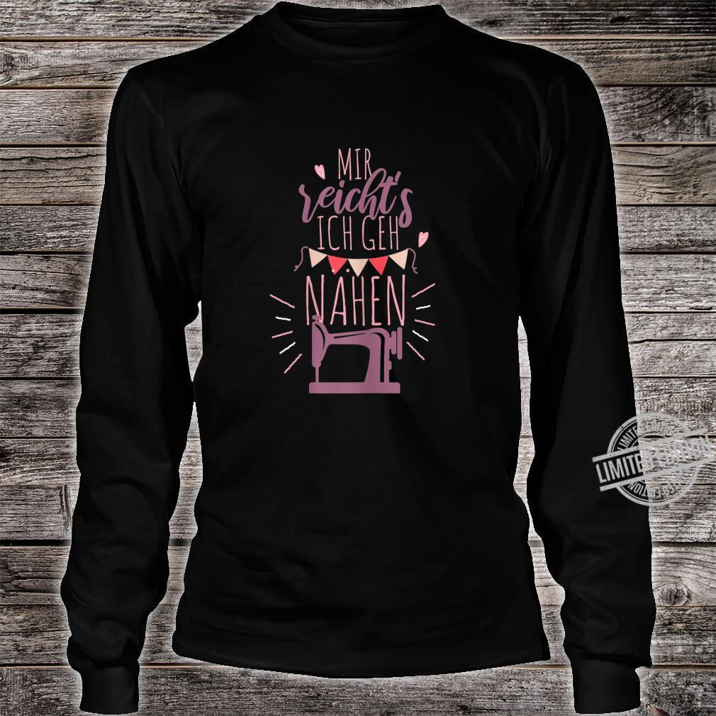 Women's Shirt with German Text Ich Gehh Sewing Shirt long sleeved