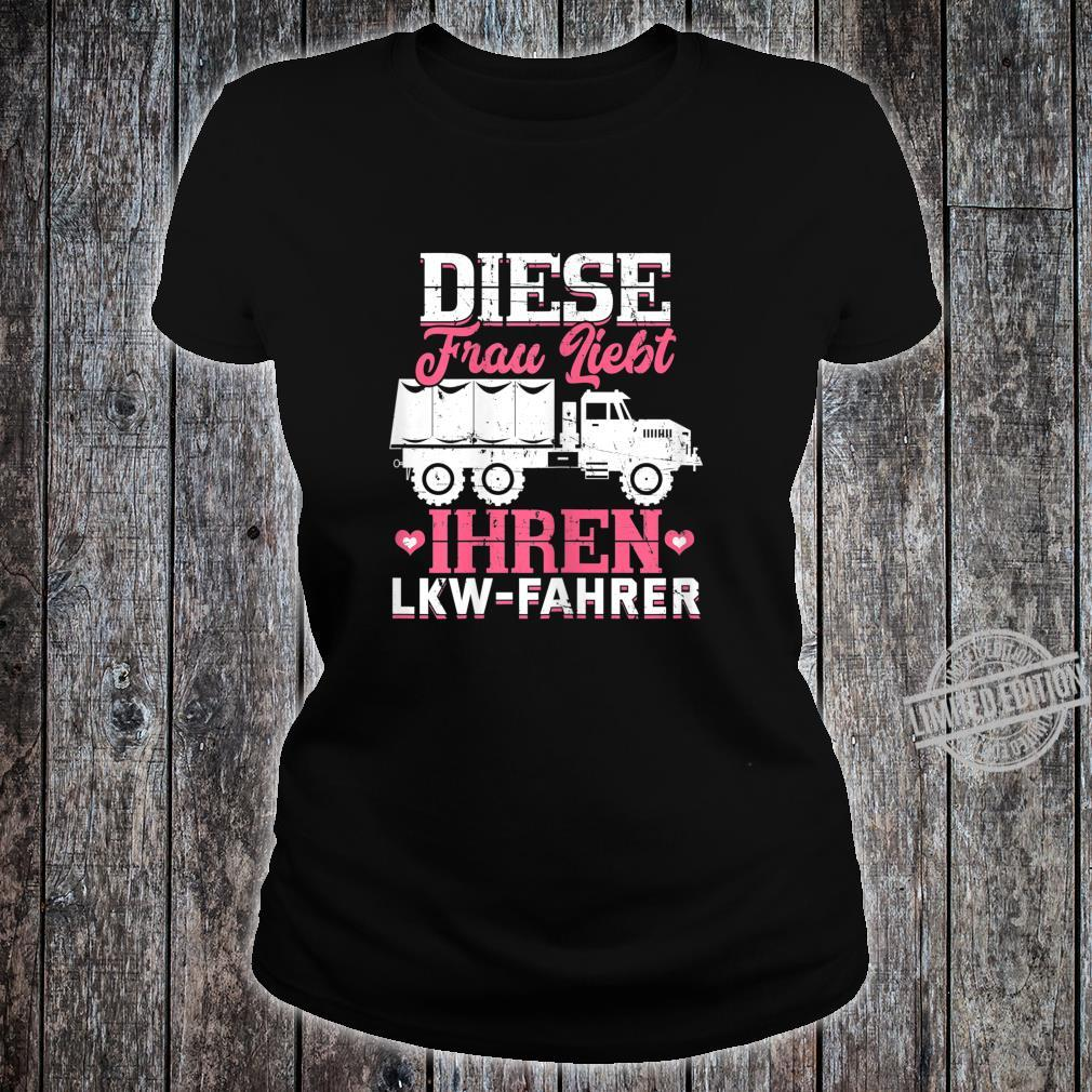 Women's Shirt with 'This Loves Your Truck Driver Trucker' Design Shirt ladies tee