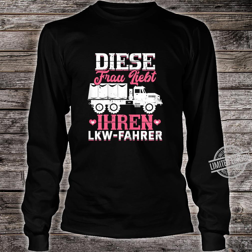 Women's Shirt with 'This Loves Your Truck Driver Trucker' Design Shirt long sleeved