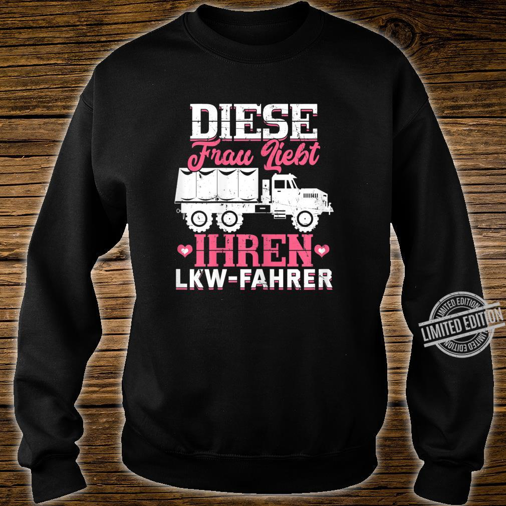 Women's Shirt with 'This Loves Your Truck Driver Trucker' Design Shirt sweater